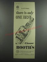 1953 Booth's Dry Gin Advertisement
