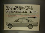 1977 Alfa Romeo Alfetta 1.8 Saloon Car Ad - Progress!!