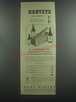 1953 John Harvey of Bristol Sherry Advertisement