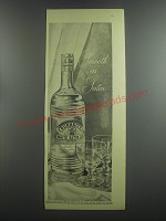 1953 Burnett's White Satin Gin Ad - Smooth as Satin