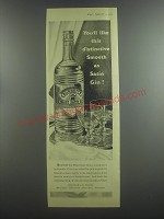 1953 Burnett's White Satin Gin Ad - You'll like this distinctive Smooth