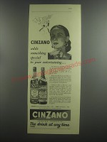 1953 Cinzano Vermouth Ad - Cinzano adds something special to your entertaining