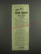 1953 Pond's Dry Skin Cream Ad - After 25 - guard against dry skin