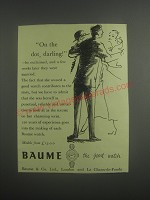 1953 Baume Watches Ad - On the dot, darling