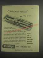 1953 Prestige 5003 Carving Set Ad - Christmas special (very special!)