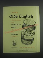 1953 Chivers Olde English Marmalade Ad - Ask for Olde English