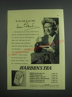 1953 Harden's Tea Ad - If you went to tea with Joan Gilbert