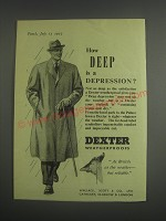 1953 Dexter Weatherproofs Ad - How deep is a depression?