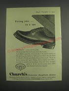 1953 Church's Wentworth Shoe Ad - Fitting you.. To a tee