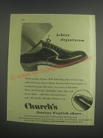 1953 Church's Sackville Shoe Ad - Arbiter elegantiarum