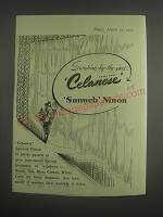 1953 Celanese Sunweb Ninon Ad - Sunshine by the yard