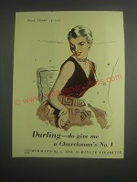 1953 Churchman's No. 1 Cigarettes Advertisement - Darling - do give me