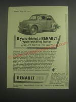 1953 Renault 750 Car Ad - If you're driving a Renault - you're motoring better