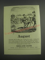 1953 Midland Bank Ad - August
