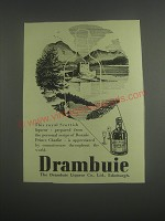 1953 Drambuie Liqueur Ad - This royal Scottish liqueur