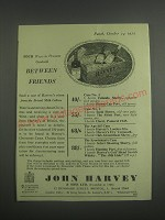 1953 John Harvey Sherry and Port Advertisement - Four ways to promote goodwill