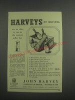 1953 John Harvey Sherry and Port Ad - Harvey's of Bristol are as close to you