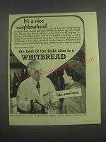1953 Whitbread Ale Ad - It's a nice neighbourhood