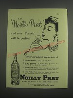1953 Noilly Prat Vermouth Advertisement - your French will be perfect