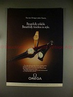 1978 Omega Ladies Quartz Watch Ad - Timeless in Style!!
