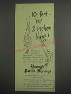 1953 Young's Potted Shrimps Ad - 10 feet - yet 2 inches long