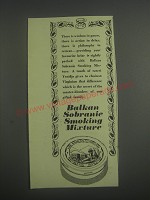 1953 Balkan Sobranie Smoking Mixture Ad - There is wisdom in pause