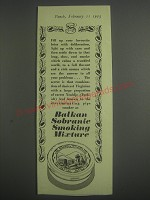 1953 Balkan Sobranie Smoking Mixture Ad - Fill up your favourite briar