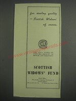1953 Scottish Widows' Fund Insurance Ad - For sterling quality