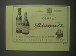 1953 Cognac Bisquit Ad - A rare compliment to your palate