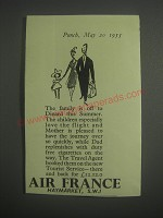 1953 Air France Ad - The family is off to Dinard this summer