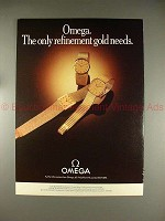 1979 Omega Watch Ad - The Only Refinement Gold Needs!