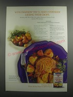 2000 Swanson Chicken Broth Ad - recipe for Pork with Roasted peppers & potatoes