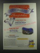 2000 Domino Sugar Ad - You could win Domino Sugar's 100th birthday sweepstakes