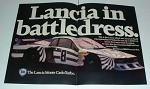 1980 2-pg Lancia Monte Carlo Turbo Car Ad - Battledress