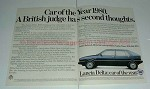 1980 2-page Lancia Delta Car Ad - Second Thoughts!!