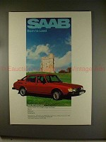 1980 Saab 900 Turbo 5 Door Red Car Ad - NICE!!