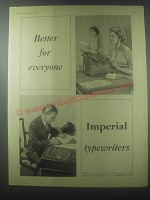 1954 Imperial Typewriters Ad - Better for everyone Imperial Typewriters