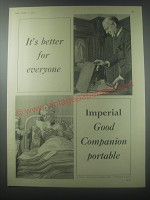 1954 Imperial Good companion Portable Typewriter Advertisement - It's better