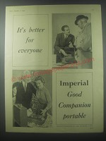 1954 Imperial Good companion Portable Typewriter Ad - It's better for everyone