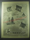 1954 Yardley Advertisement - Beauty gift cases, Gift cases for men, Flair