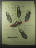 1954 Church's Shoes Advertisement - Diplomat, Sackville, Chetwynd, Wentworth