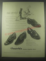 1954 Church's Shoes Advertisement - Diplomat, Whipflex Turf, Mastermot