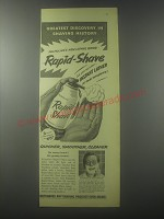 1954 Palmolive Rapid-Shave Ad - Greatest discovery in shaving history