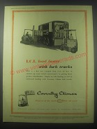 1954 Coventry Climax Fork Trucks Ad - I.C.I. load faster with fork trucks