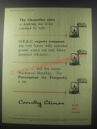 1954 Coventry Climax Fork Trucks Ad - The Chancellor aims at doubling