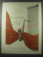 1954 Sanderson Wallpapers and Fabrics Advertisement - of Berners Street