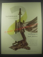 1954 Sanderson wallpapers and Fabrics Ad - Sanderson of Berners Street