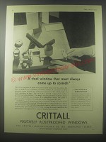 1954 Crittall Windows Ad - A steel window that must always come up to scratch