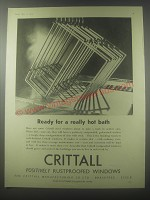 1954 Crittall Windows Ad - Ready for a really hot bath