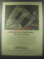 1954 Crittall Windows Ad - The story of the Crittall window that had two baths